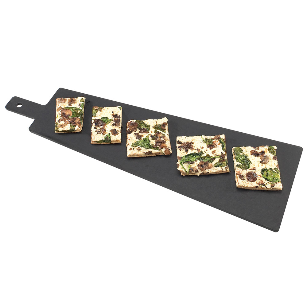 Cal-Mil 1535-16-13 16-in Flat Bread Serving Display Board, Black