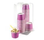 "Cal-Mil 1539-12 Revolving Cup Dispenser, 10 x 10 x 16.75"", Clear Acrylic"