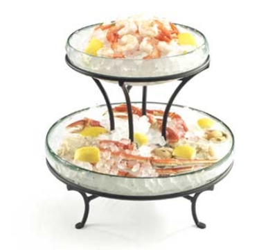 "Cal-Mil 1542-13 14"" Round Ice Display, 12.5"" High, BPA Free"