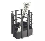 "Cal-Mil 1544-13 Flatware Display, 4 x 4 x 4.5"", Black"
