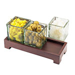 "Cal-Mil 1549-2-52 Jar Display w/ Glass jars, 12.5 x 4.75 x 2"", BPA Free"