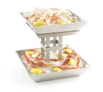 "Cal-Mil 1563-2 Ice Display, 12.75 x 12.75 x 11.5"", Aluminum"