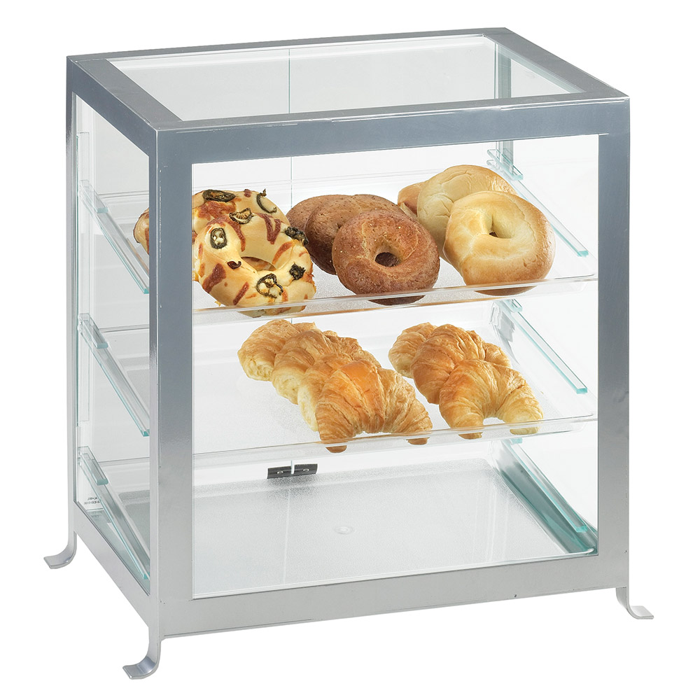 "Cal-Mil 1574-74 Soho Display Case - 17-1/4x12-3/4x20-3/4"", Silver"