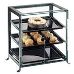 "Cal-Mil 1574-S-13 Soho Display Case - Self-Seve, 17-1/4x12-3/4x20-3/4"", Black"