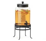 "Cal-Mil 1580-2-13 Glass Beverage Dispenser w/ Frame, 10 x 12 x 20.5"", Black"