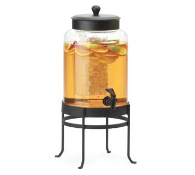 Cal-Mil 1580-2-13 Glass Beverage Dispenser w/ Frame, 10 x 12 x 20.5-in, Black