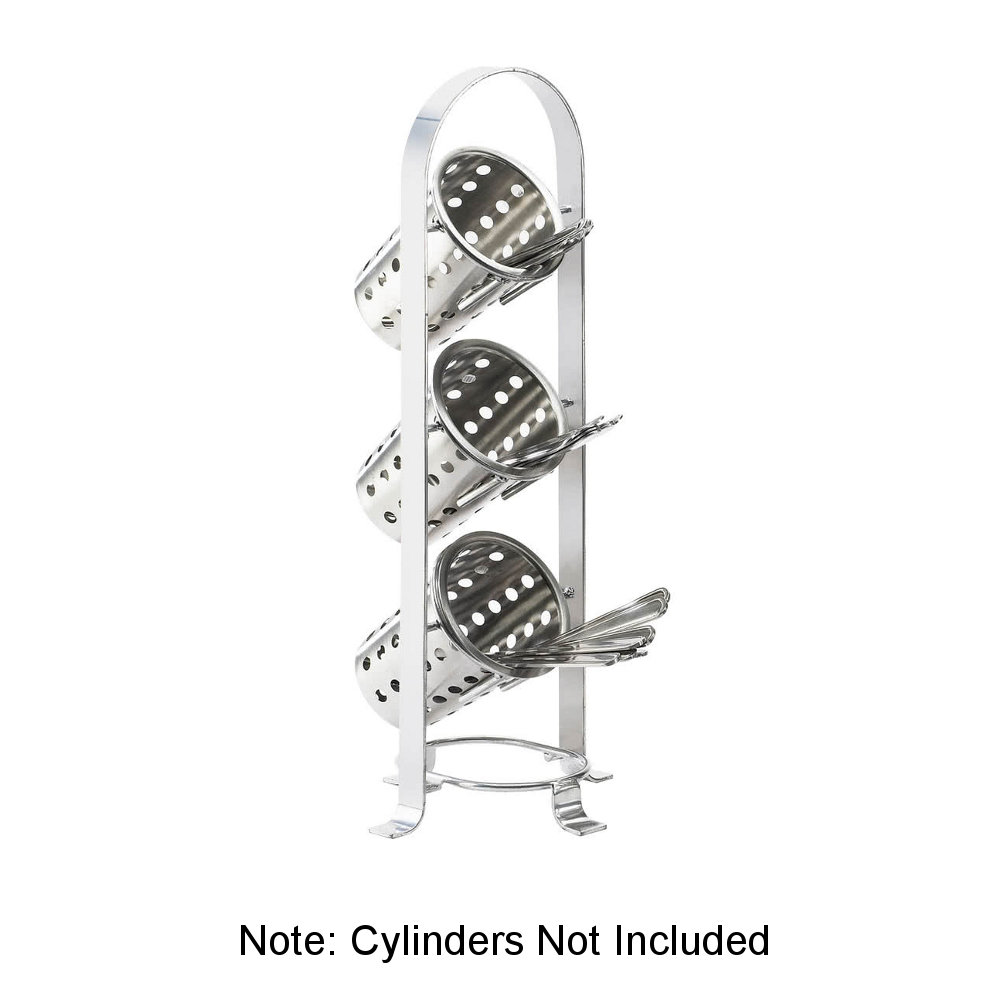 CAL-MIL 1583-74 21 3-Section Cylinder Display - Metal, Si...