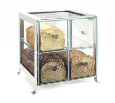 Cal-Mil 1586-74 BPA Free Bread Case, 14 x 13 x 14.5-in, Silver