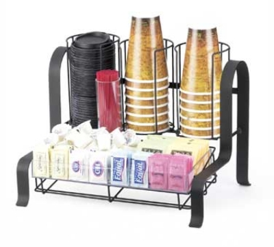 Cal-Mil 1594-13 Condiment Organizer, 15.75 x 11.75 x 12-in, Black
