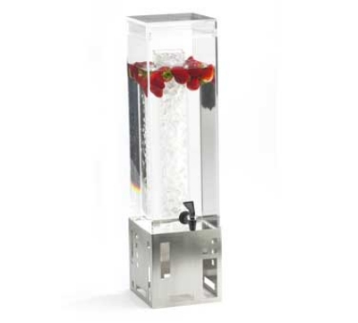 Cal-Mil 1602-3-55 3-Gal Squared Beverage Dispenser, 7.5 x 9.5 x 26.75-in, Stainless