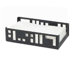 "Cal-Mil 1606-13 Squared Napkin Holder, 9.25 x 5.25 x 2.5"", Black"