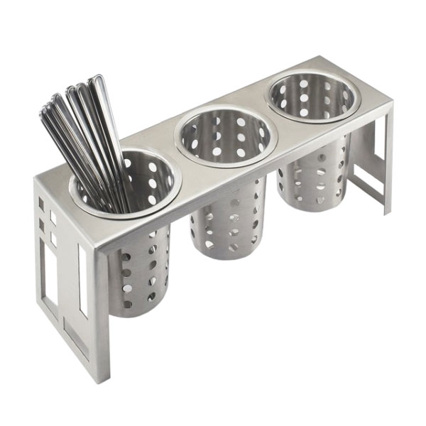 "Cal-Mil 1608-55 Squared Cylinder Display, 16 x 5.25 x 6"", Stainless"