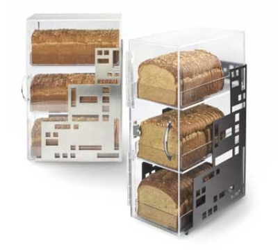 Cal-Mil 1614-55 3-Tiered Squared Bread Case, 7 x 12 x 20-in, Stainless
