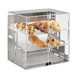 "Cal-Mil 1621-55 Self Serve Squared Display Case - 15x13x19"", Stainless Steel"
