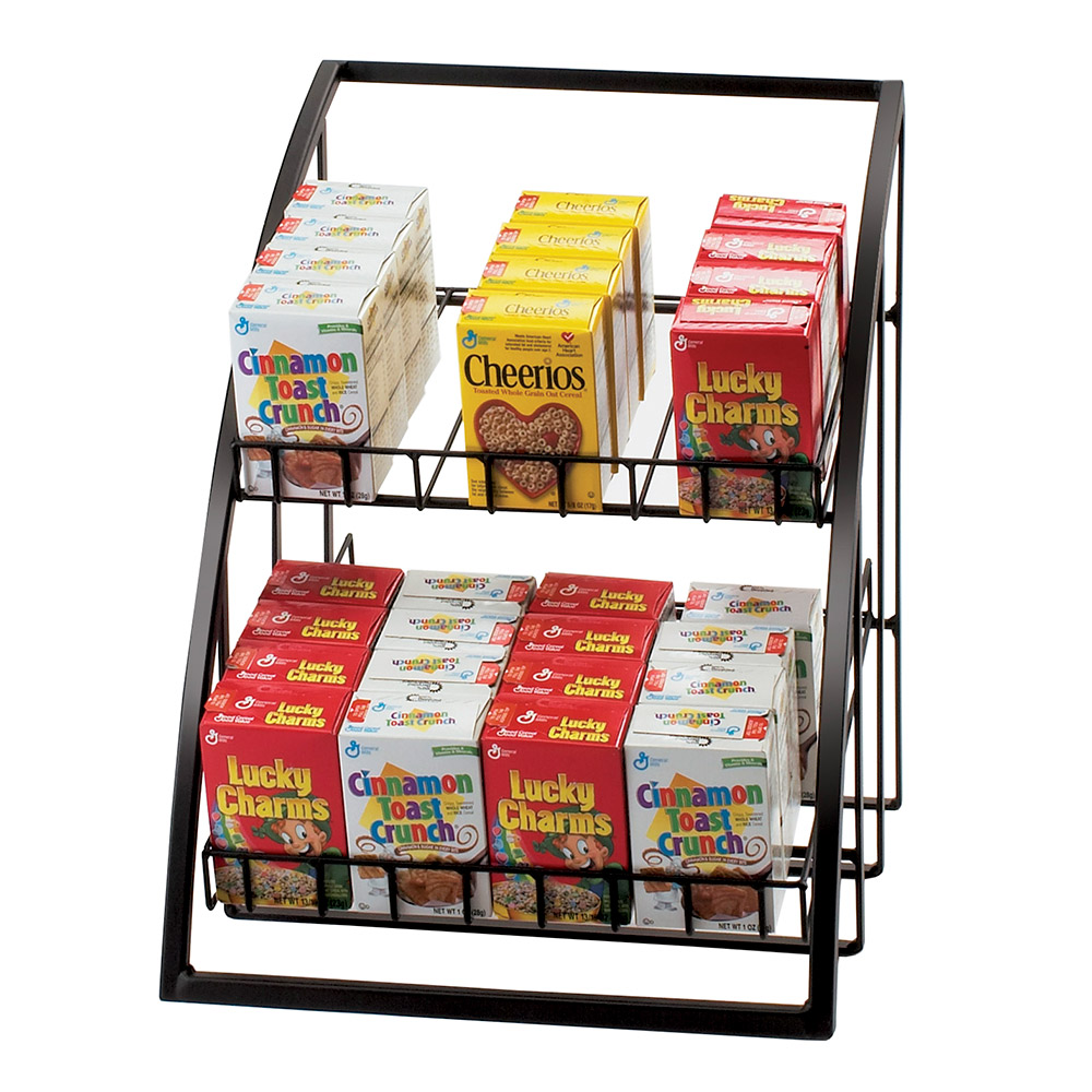 Cal-mil 1702-39 Merchandiser w/ Wire Shelves, 13.5 x 15 x 16.5-in, Silver