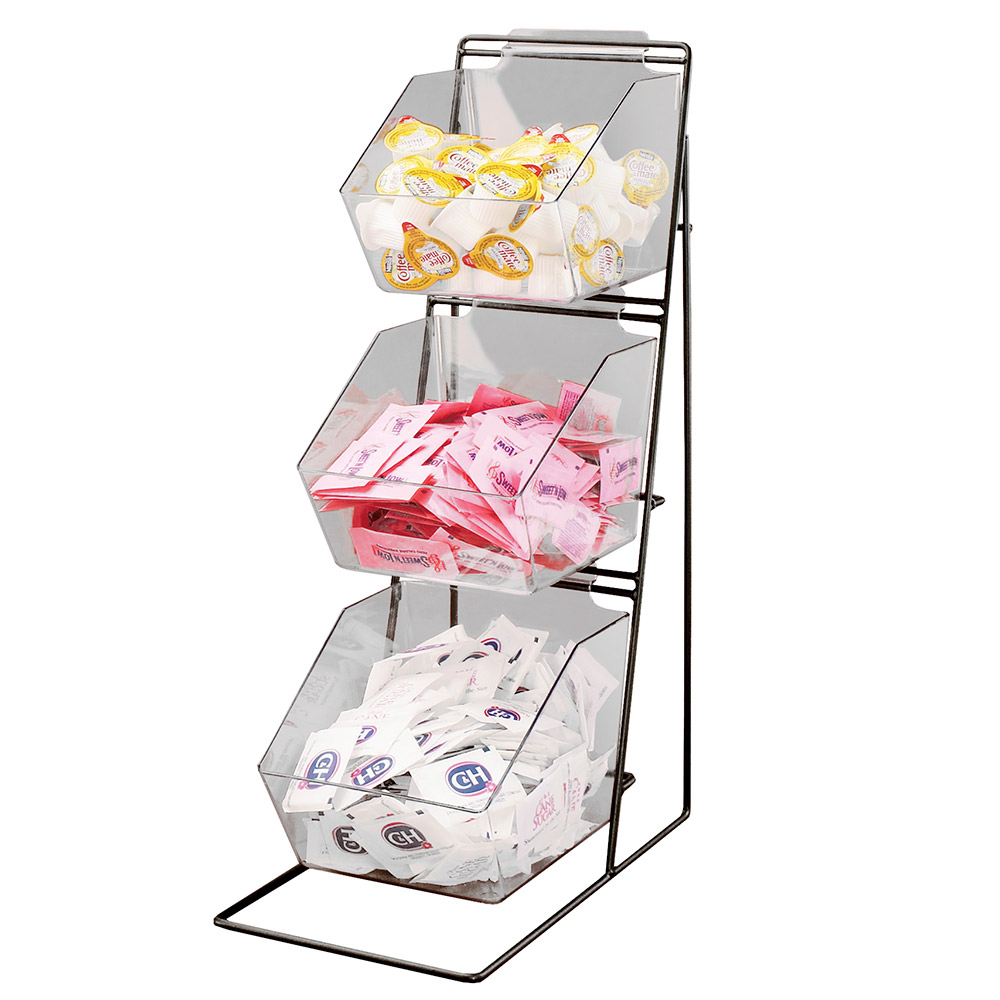 Cal-Mil 1709 Condiment Organizer w/ 3-Removable Styrene Bins & Wire Frame