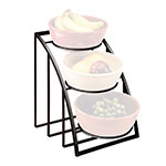 "Cal-Mil 1712-10-13 Mission Style Bowl Rack Only - Holds 10"" Bowls, Black"