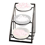 "Cal-Mil 1712-8-13 Mission Style Bowl Rack Only - Holds 8"" Bowls, Black"