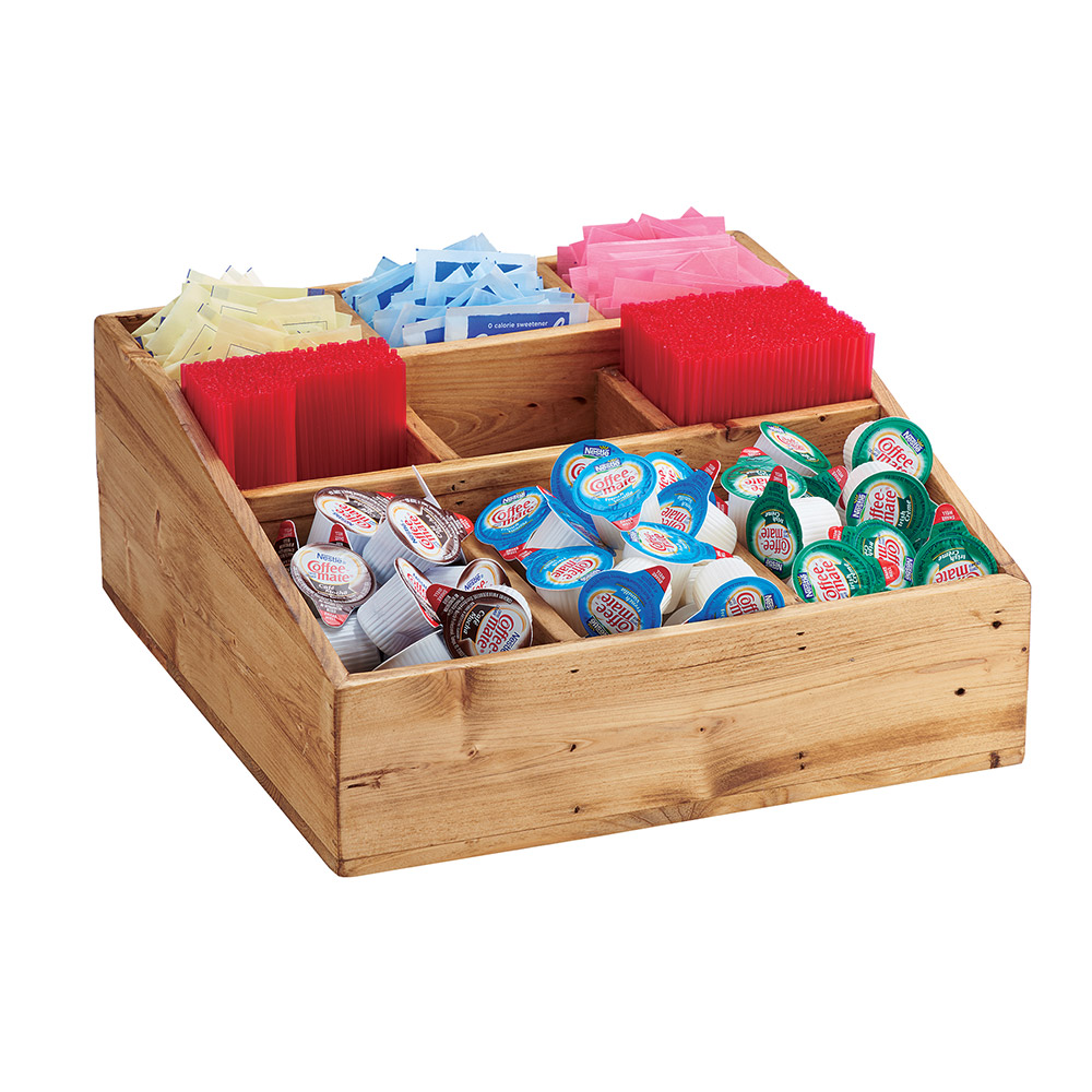 Cal-Mil 1714-99 Multi-Section Condiment Organizer w/ 9-Compartments, Reclaimed Wood