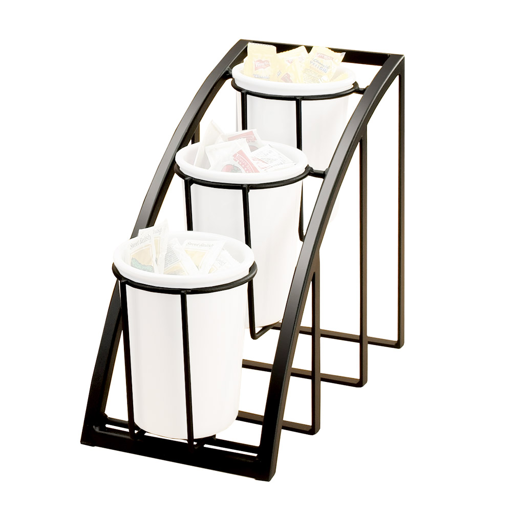 "Cal-Mil 1746-3-13 3-Tier Mission Style Frame for Crock & Cylinder, 10.75"" H, Black"