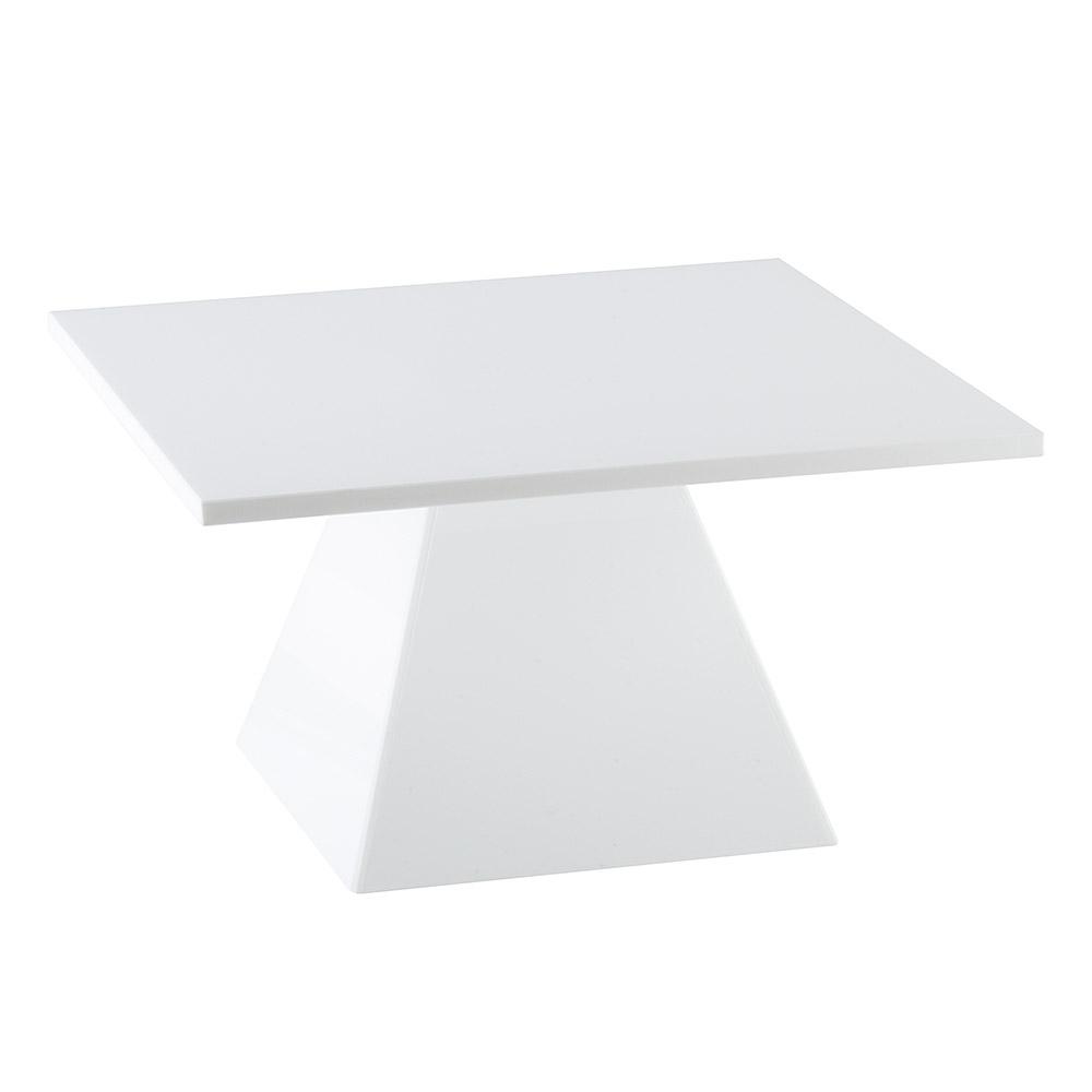 "Cal-Mil 1917-2-15 Square Pedestal Riser - 14-1/2x14-1/2x8"", White"