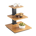 "Cal-Mil 1930-60 3-Tier Elevation Display - 18x18x20-1/4"", Black, Bamboo"