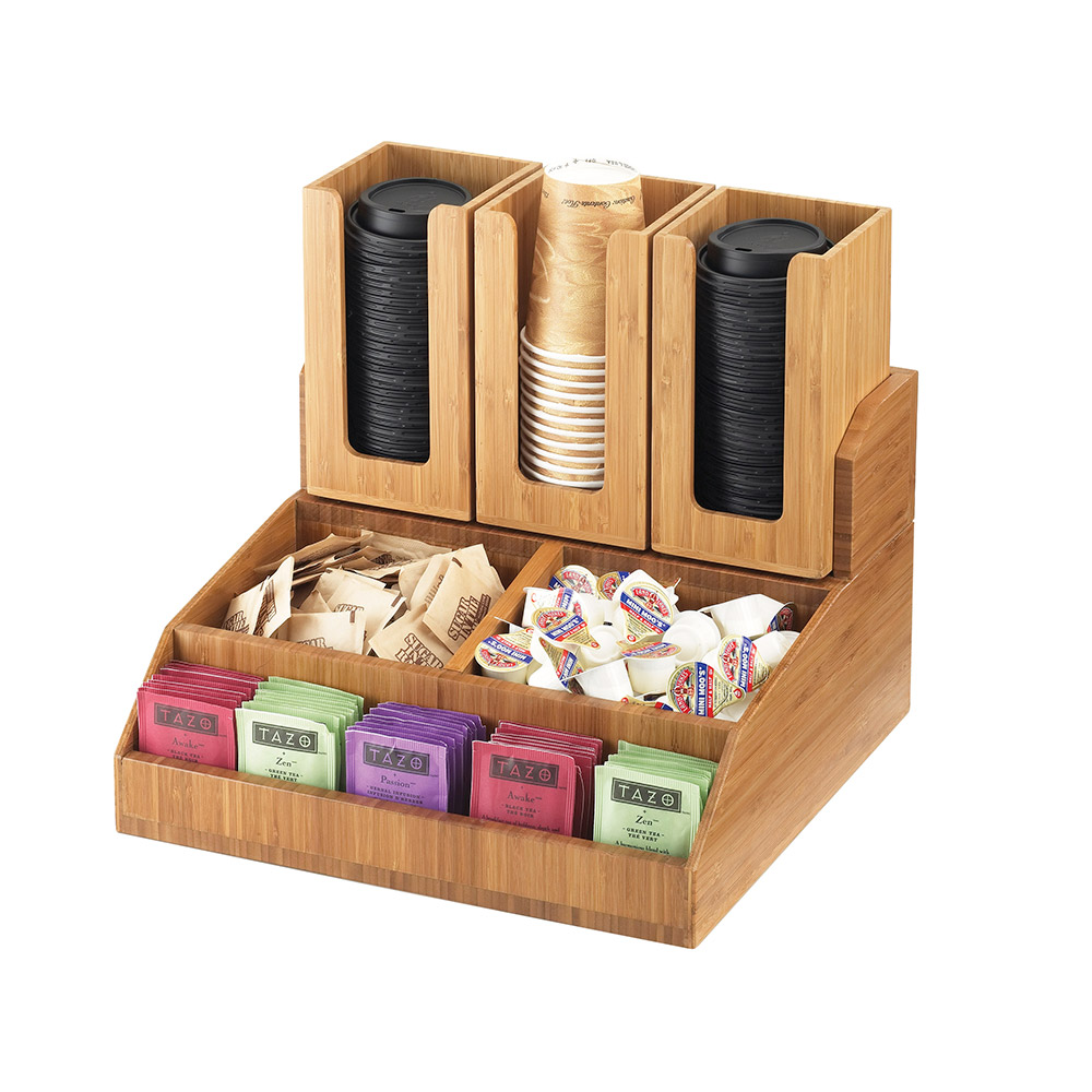 Cal-Mil 2019-60 Multi-Bin Condiment Station- Bamboo