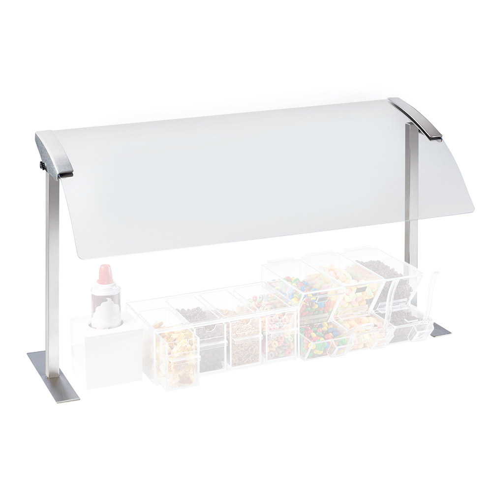 """Cal-Mil 2026-6-55 Sneeze Guard - Single, 73-1/4x16x20-3/4"""", Stainless Steel"""