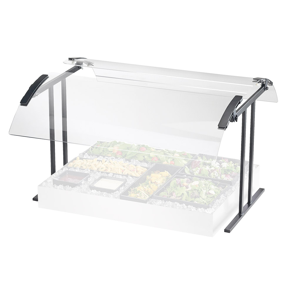 "Cal-Mil 2027-6-13 Buffet Sneezeguard - Double Faced, 73-1/4x27-1/4x21-1/2"", Black"