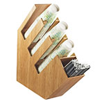 Cal-Mil 2051-60 4-Section Classic Lid Cup and Straw Organizer - Bamboo
