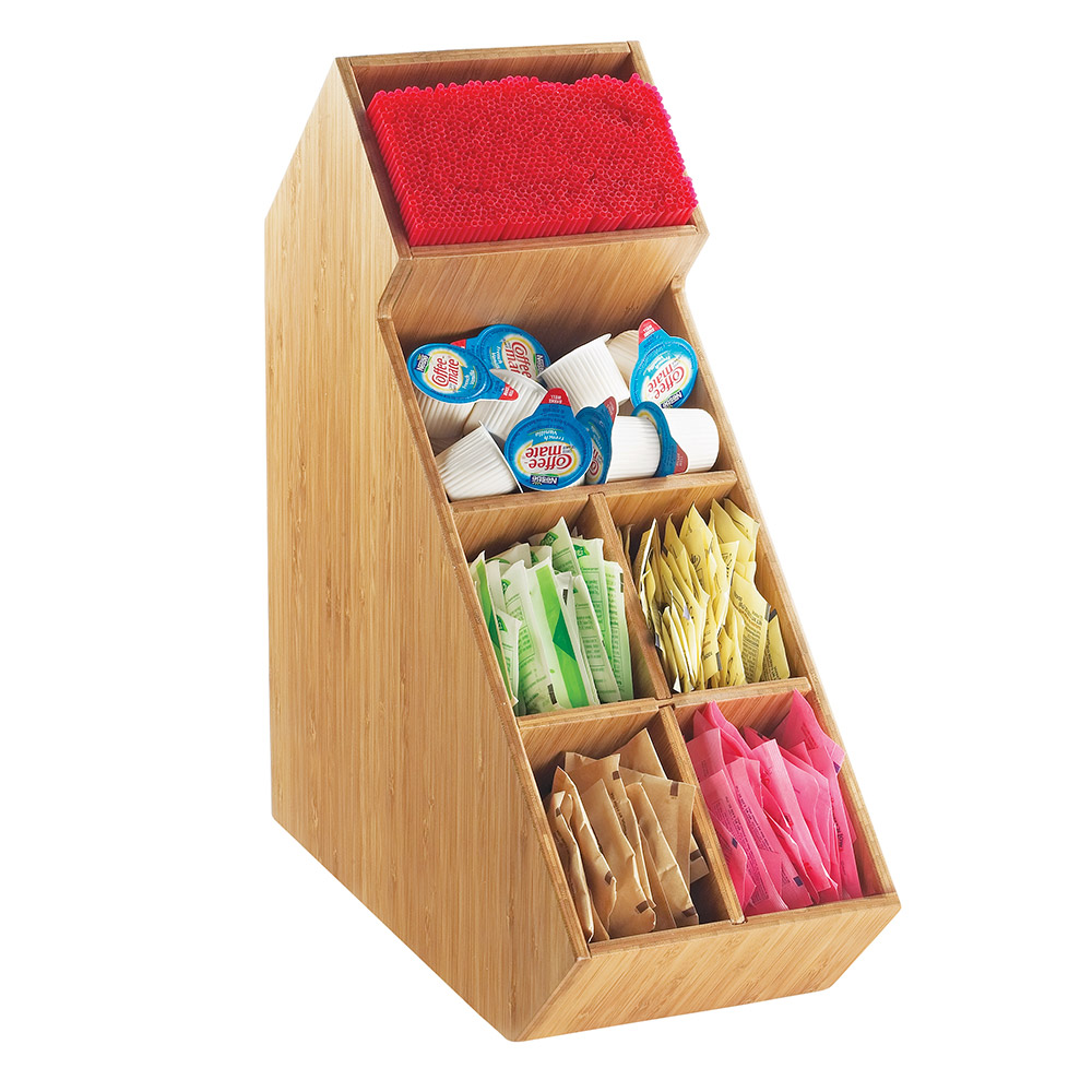 Cal-Mil 2052-60 Stir Stick and Condiment Display - Bamboo