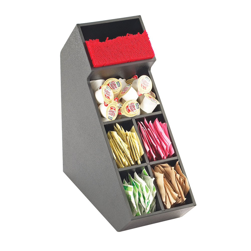 Cal-Mil 2052 Classic Stir Stick and Condiment Display - Black