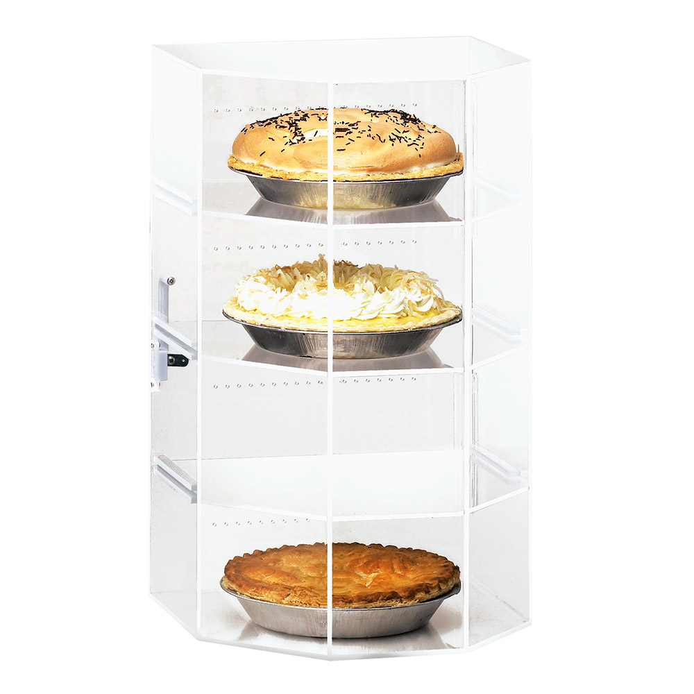 """Cal-Mil 252 Countertop Display Case w/ Hex Front & (4) 12 x 12"""" Levels"""