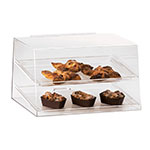 "Cal-Mil 255 Countertop Display Case w/ Rear Door & (2) 13 x 18"" Trays, Clear"