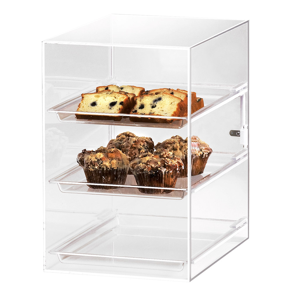 "Cal-Mil 257 Countertop Display Case w/ Straight Front & (3) 10 x 14"" Trays"
