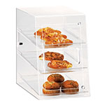 "Cal-Mil 263-S Countertop Display Case w/ Slant Front & (3) 10 x 14"" Trays, Clear"