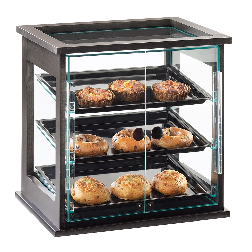 "Cal-Mil 284-S-96 Self Serve Frame Display Case - 21x16-1/4x22-1/2"", Midnight"