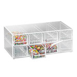 "Cal-Mil 287 13"" Topping Dispenser w/ Notched Drawers, BPA Free, Clear"