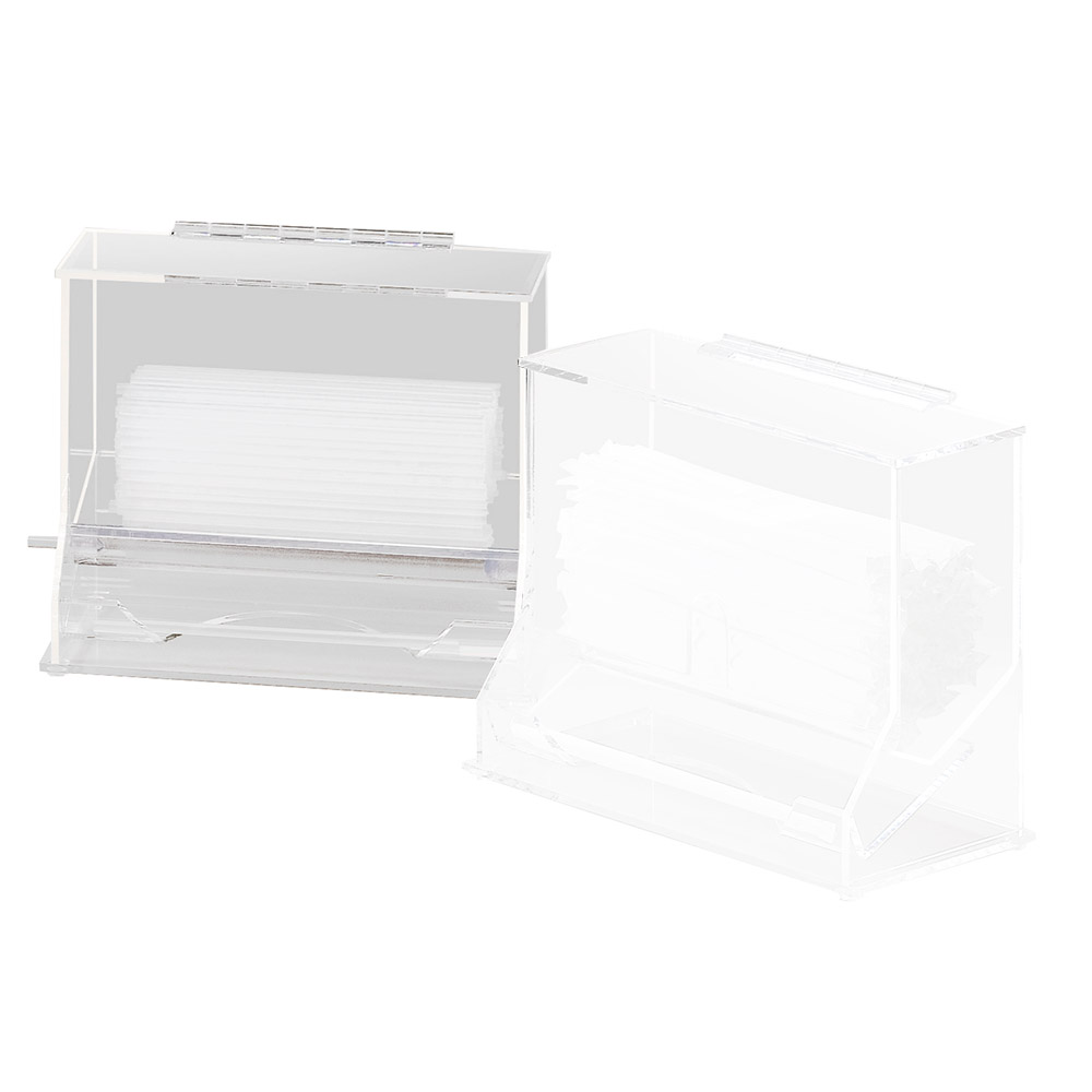 Cal-Mil 294 Clear Acrylic Unwrapped Straw Dispenser