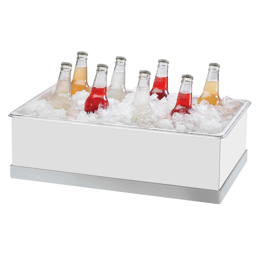 "Cal-Mil 3005-12-55 Luxe Ice Housing - 12-1/4x20-1/4x6-1/4"", White, Stainless Steel"