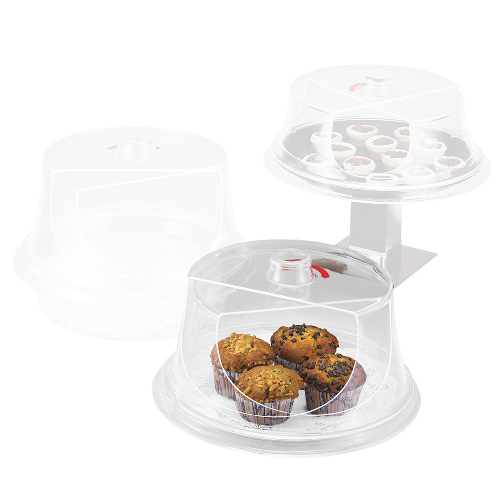 """Cal-Mil 302-15 15"""" Turn N Serve Colonial Cover, Clear Acrylic"""