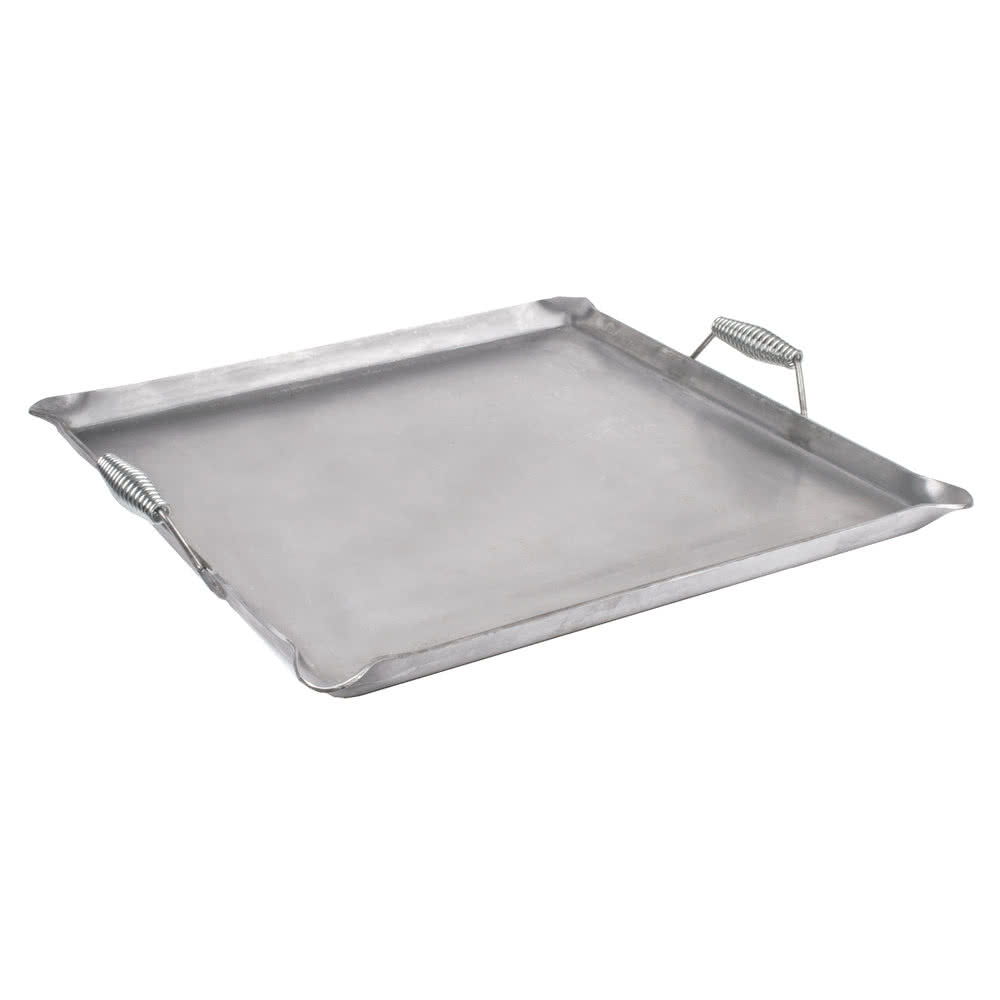 "Cal-Mil 3068 Griddle Top w/ Heat Guard Handles - 23"" x 23"", Iron"