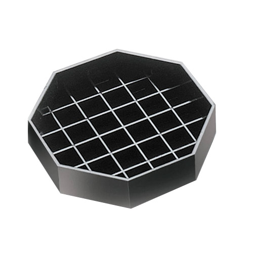 Cal-Mil 308-4-13 4-in Octagon Drip Tray, Black