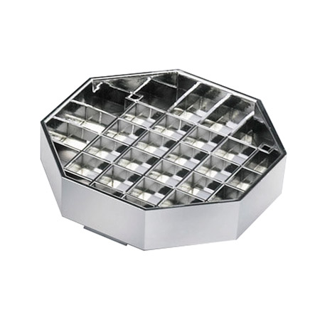 "Cal-Mil 308-6-49 6"" Octagon Standard Drip Tray, Chrome"