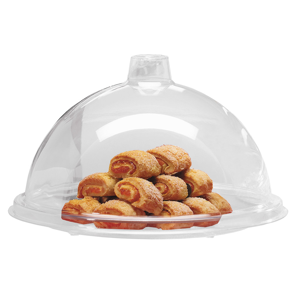 "Cal-Mil 311-7 7"" Dome Type Gourmet Cover, Clear Acrylic"