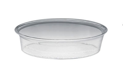 Cal-mil 316-12-12 12-in Round Turn N Serve Deep Tray, Clear