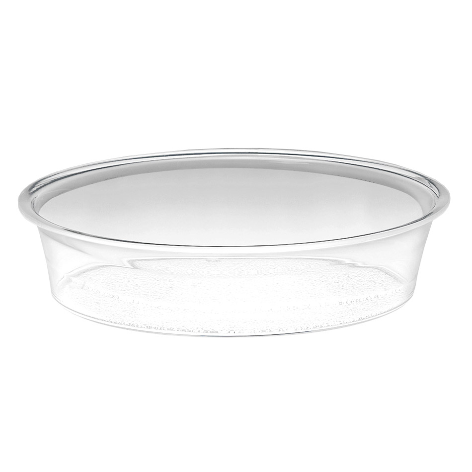 "Cal-Mil 316-12-12 12"" Round Turn N Serve Deep Tray, Clear"