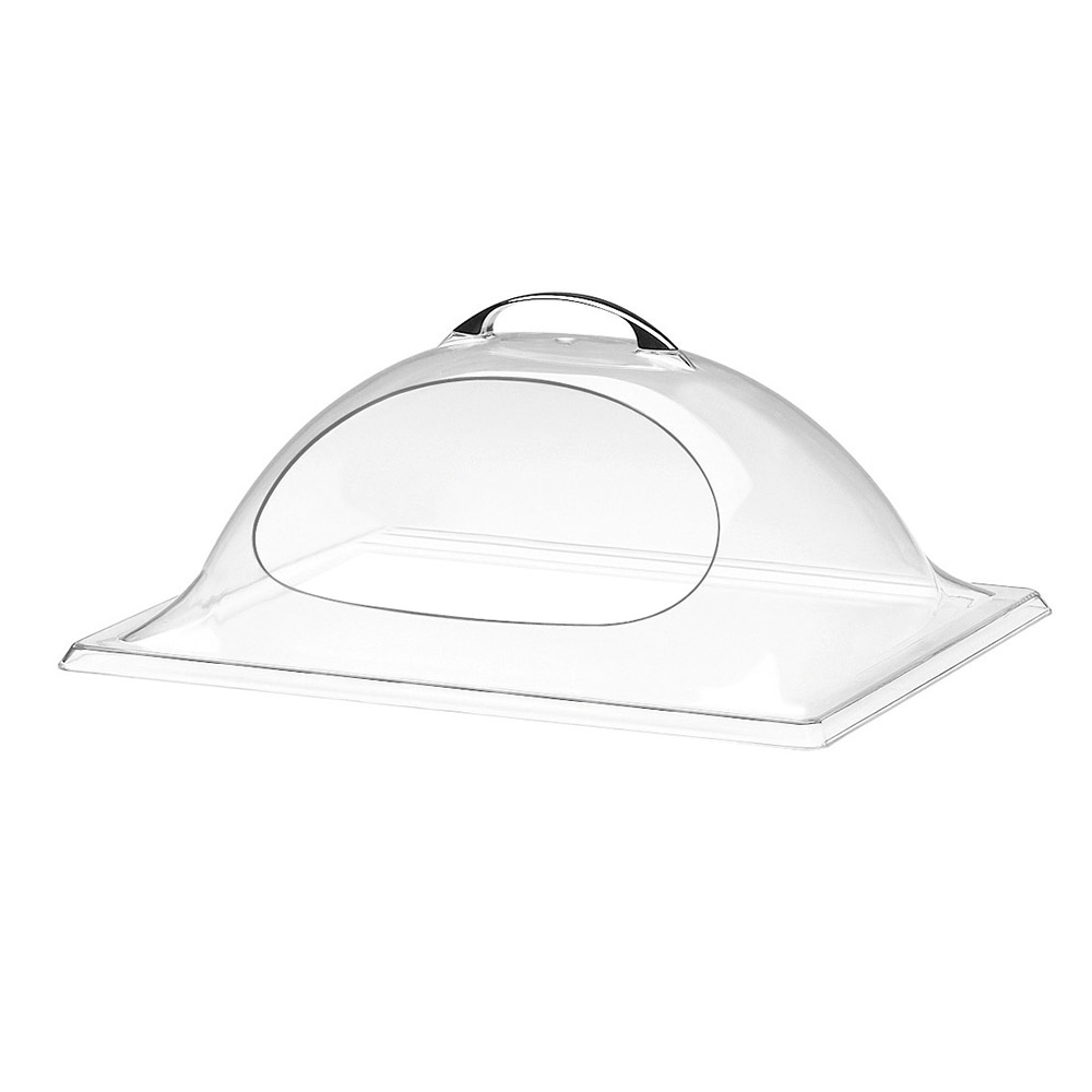 "Cal-Mil 324-10 Dome Chafer & Display Cover w/ 1-Side Cut Out, 10 x 12 x 4.5"" H"