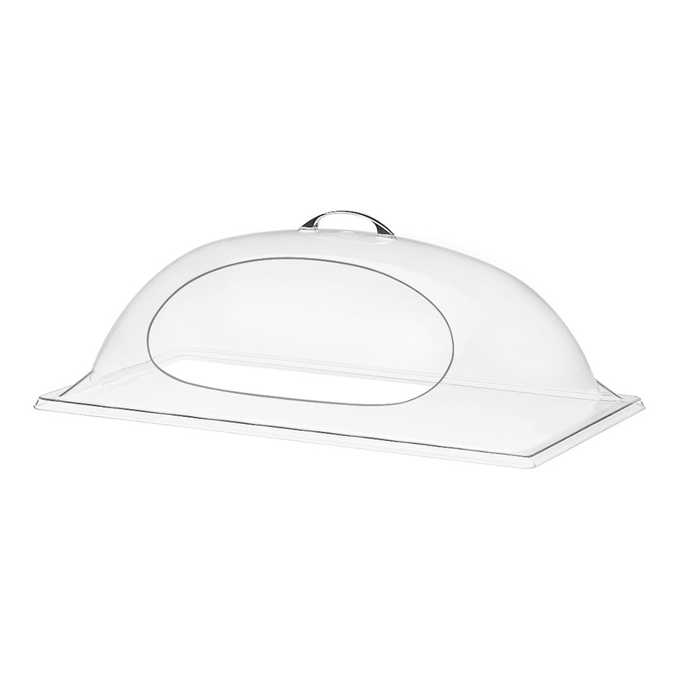 "Cal-Mil 324-18 Dome Display Cover w/ 1-Side Cut Out, 18 x 26 x 8"" High"