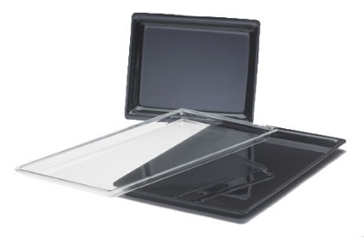 "Cal-Mil 3251312 13"" Shallow Acrylic Display Tray, Clear"